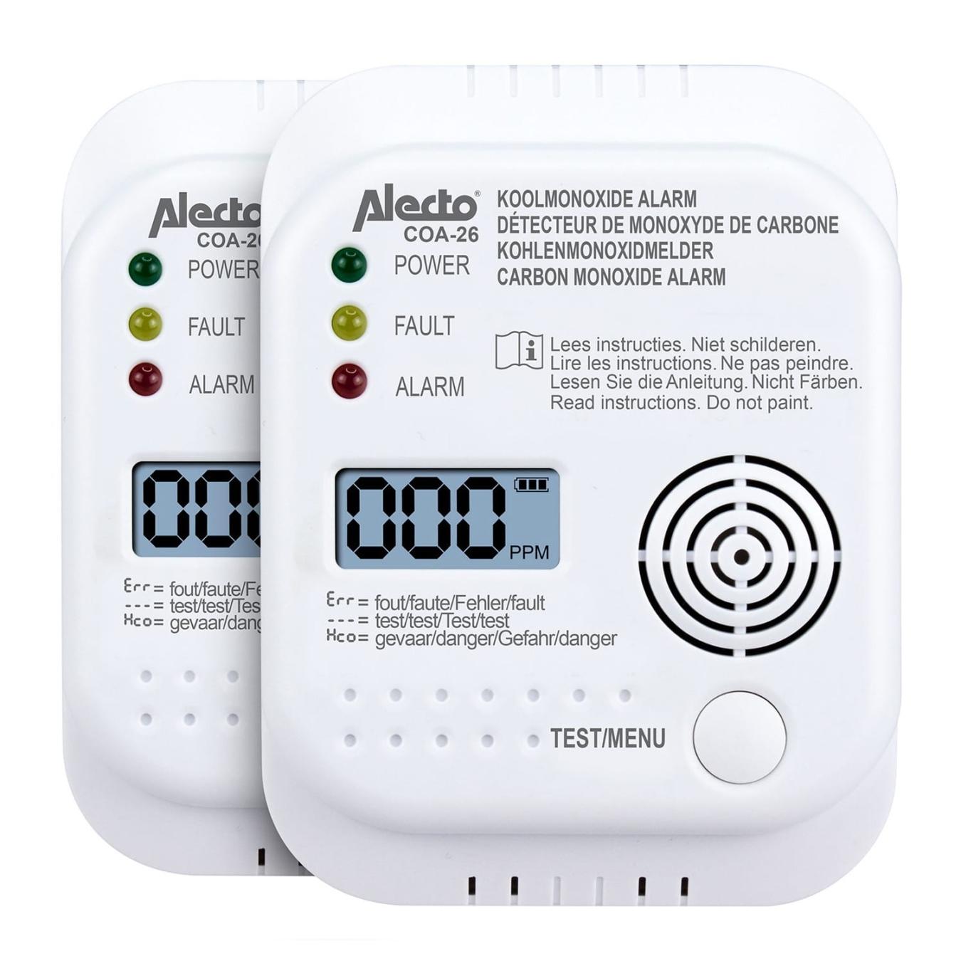 Koop Alecto COA-26 Koolmonoxidemelder 2-pack