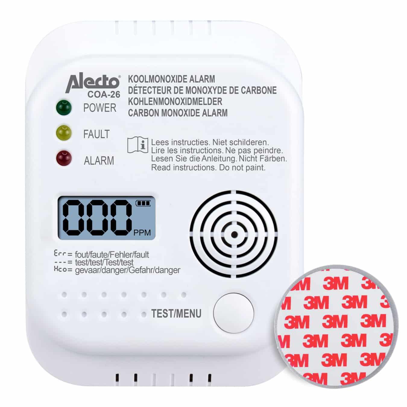 Koop Alecto COA-26 Koolmonoxidemelder + montageset