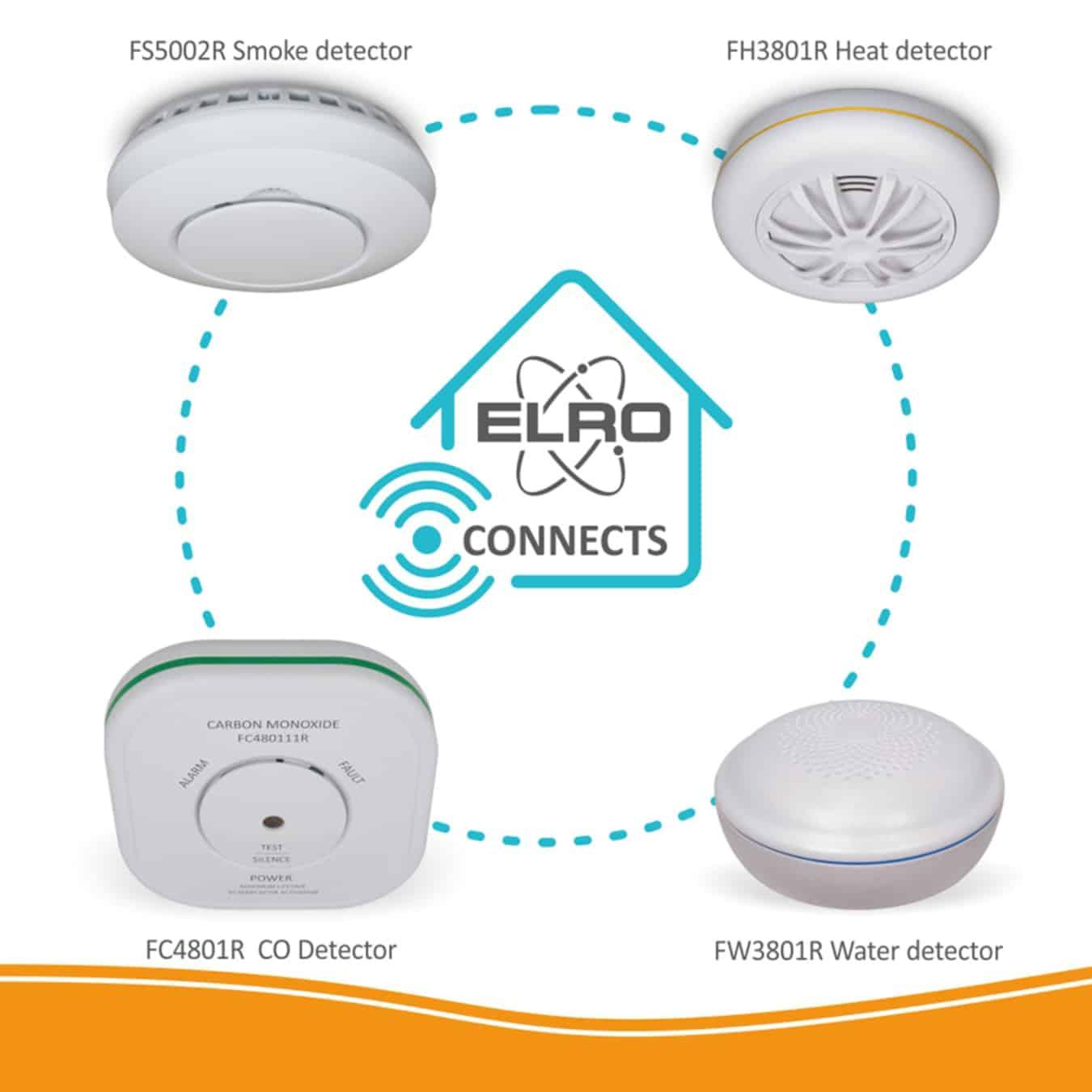 Koop ELRO Connects FC480111R Koolmonoxidemelder draadloos koppelbaar
