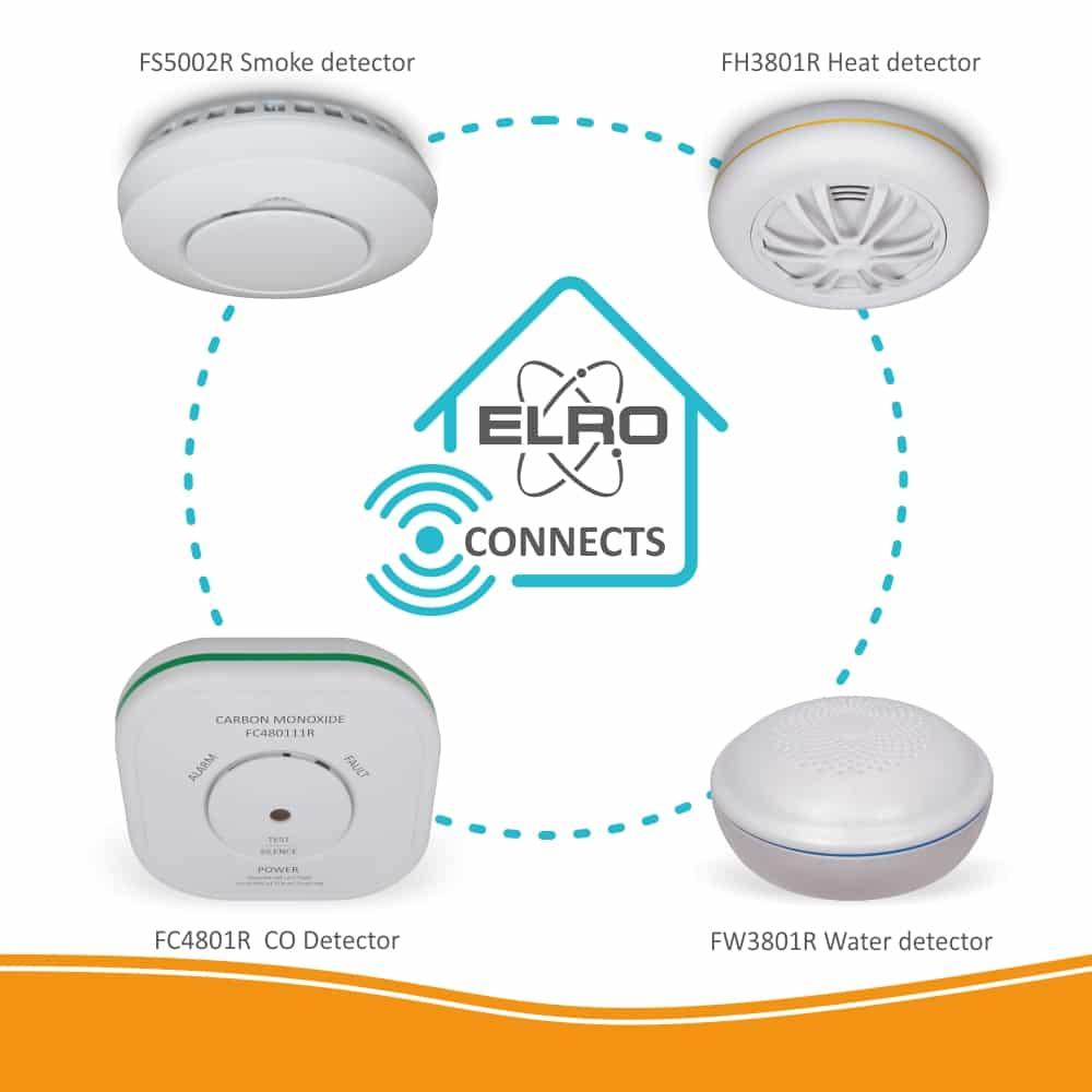 Koop ELRO Connects FW3801R Watermelder - draadloos koppelbaar