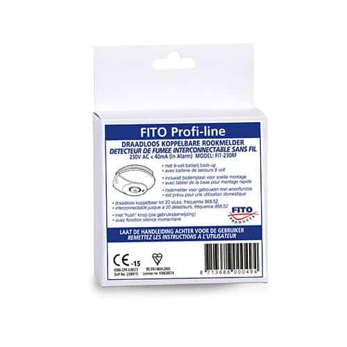 Koop Fito FIT-230RFL Rookmelder 230v - draadloos koppelbaar