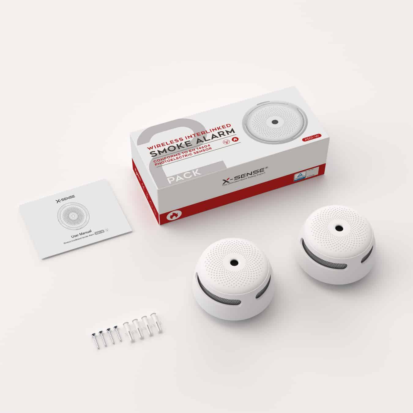 Koop X-Sense XS01-Wx3 Rookmelderset - draadloos koppelbaar - 3-pack