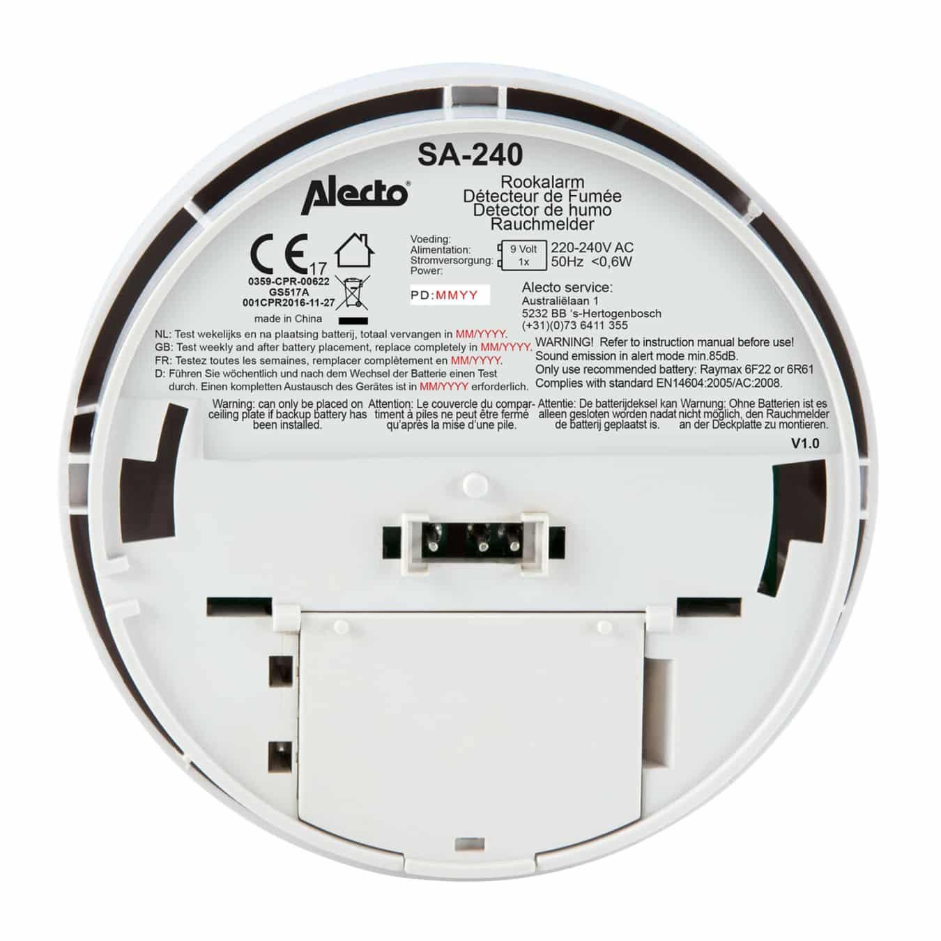 Koop Alecto SA-240 Rookmelder 230v