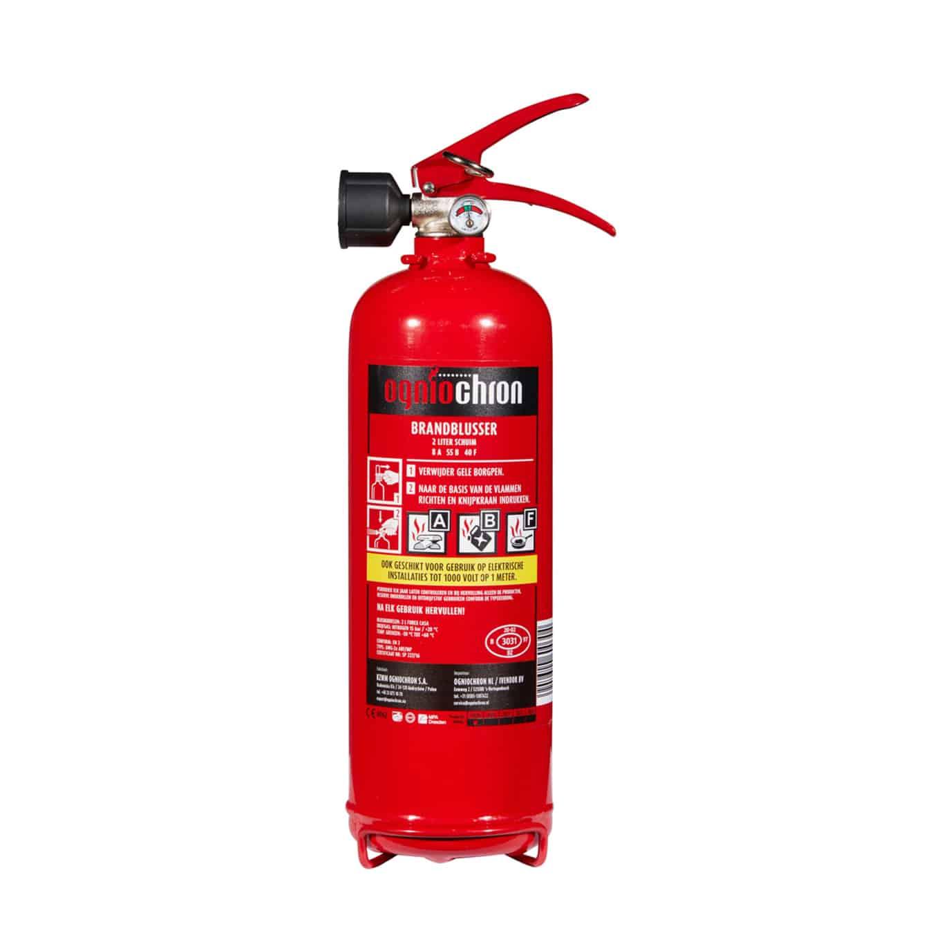 Koop Ogniochron Brandblusser schuim 2 liter – GWG-2x ABF-MP