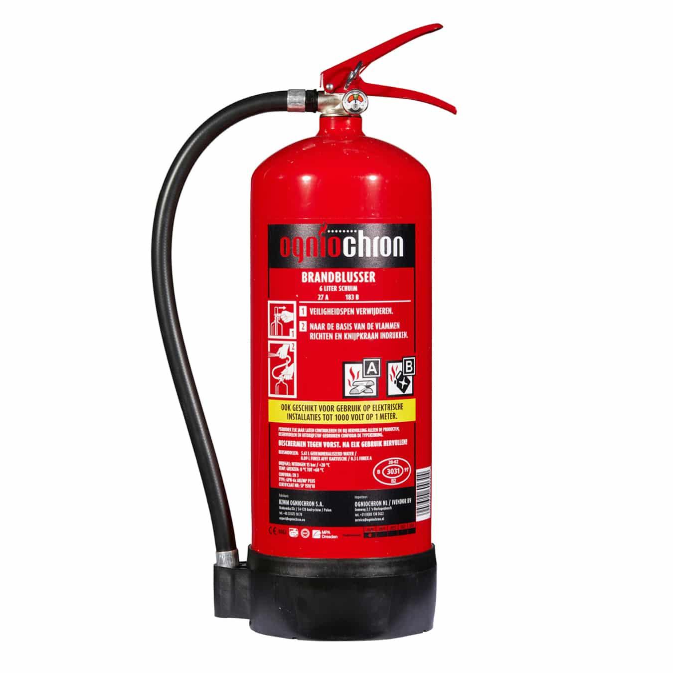 Koop Ogniochron Brandblusser schuim 6 liter – GPN-6x AB/MP PLUS
